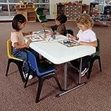 ライフタイム 4F折り畳みテーブル高さ調整可能3段階 61cm-86cm