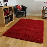 SOFT THICK LUXURY WINE SHAGGY RUG 9 SIZES AVAILABLE 160cmx230cm (5ft3