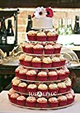 Jusalpha® Large 7-tier Acrylic Round Cake Stand-cupcake Stand- Dessert Stand-tea Party Serving Platter for Wedding Party (7R Large)