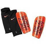 Nike Neymar Mercurial Lite Soccer Shin Guards (Atomic Orange) (X-Large), X-Large/Atomic Orange, Total Crimson, Black