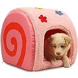 【 可愛すぎ !! 】 ロール ケーキ 型 ベッド ハウス セット クッション 付き 小型 犬 猫 小動物 インテリア 癒し ふかふか 【I.T outlet】 MI-ROLLBED (さくらロール)