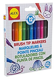 ALEX Toys Artist Studio 12 Brush Tip Markers