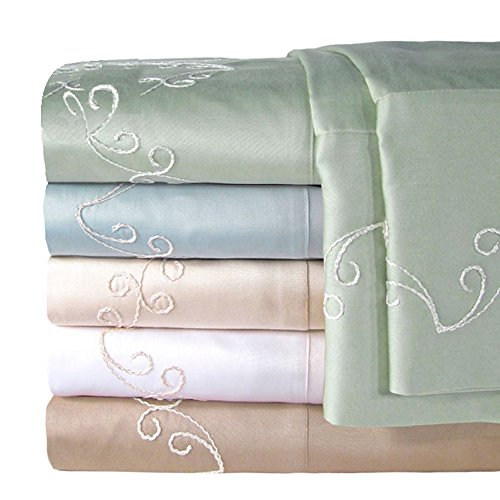 Veratex Indoor Bedroom Mattress Cover 300Tc Scroll Sheet Set D.King Taupe front-1003942