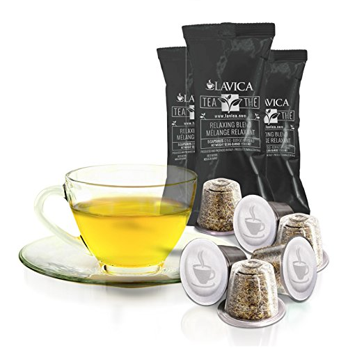 50 Relaxing Blend Nespresso Compatible Single Serve All Natural Tea Capsules Caffeine Free front-65370
