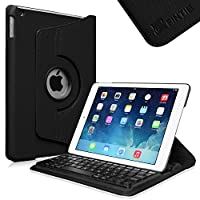 Fintie iPad Air Keyboard Case - 360 Degree Rotating Stand Cover with Built-in Wireless Bluetooth Keyboard for Apple iPad Air (2013 Model), Black from Fintie