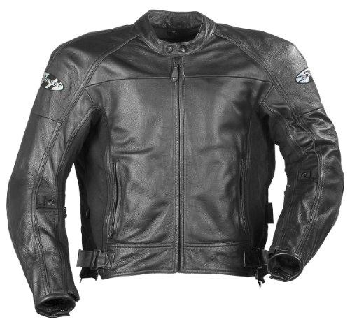 Joe Rocket Sonic 2.0 Men's Leather Motorcycle Riding Jacket (Black, XX-Large)