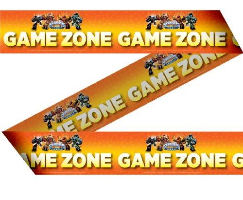 Absperrband - Game Zone - * SKYLANDERS GIANTS * für Party und Geburtstag // Kinder Geburtstag Party Fete Set Jungen Ball Monster Roboter Girlande (GRUNDPREIS: 0,20Euro/m)