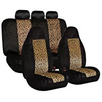 Big Sale FH-FB126115 2 Tone Classic Leopard Car Seat Covers, Airbag compatible and Split Bench