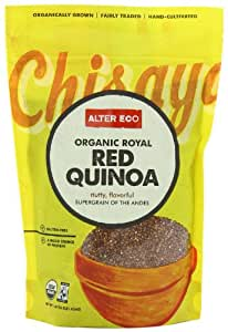 Alter Eco Fair Trade Red Quinoa, 16 Ounce Pouch (Pack of 8)