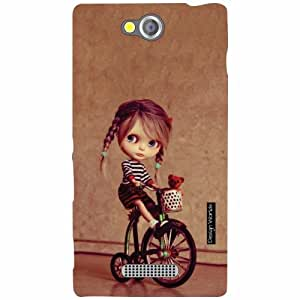 Design Worlds Sony Xperia C Back Cover - Doll Designer Case and Covers