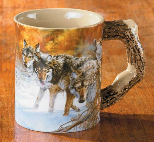 Wolves Sculpted Mug By Lee Kromschroeder