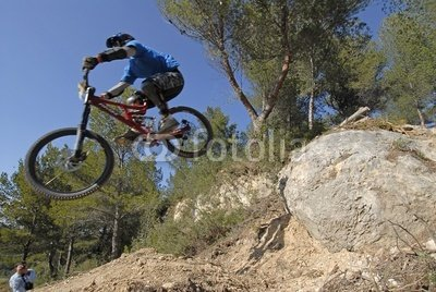 """Wallmonkeys Peel and Stick Wall Decals - Downhill Mountain Biking - 36""""W x 24""""H Removable Graphic"""