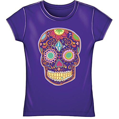 Sugar Skull Youth Fitted Tee Shirt (Kids Small)