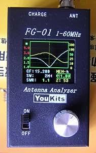 Youkits Fg-01 1-72mhz HF + 6m Antenna Analyzer