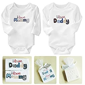 Newborn Baby Clothes Long Sleeve Cotton Baby Rompers Boy Girl Costume Christmas Gift Roupas De Bebe Infant Clothing 2 Pieces / Lot
