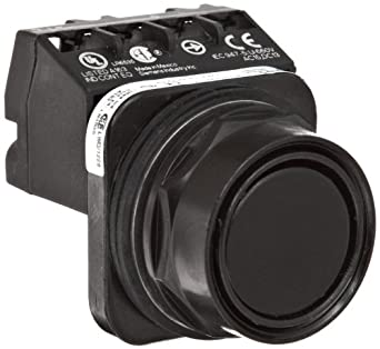 Siemens 52PX8A1J Heavy Duty Pushbutton Unit and Assembled Contact Blocks, Black Max Corrosion Resistant, Flush Cap, Black, 1 NC Contact Type