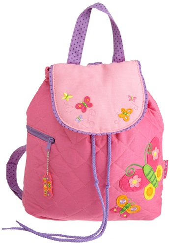 Stephen Joseph Girls 2-6x Pink Butterfly Quilted Backpack