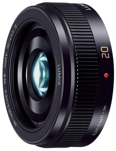 Panasonic マイクロフォーサーズ用 交換レンズ  LUMIX G 20mm/F1.7 II ASPH パンケーキレンズ ブラック H-H020A-K