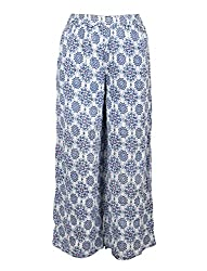 Chicabelle Girls' Palazzo Pants (CH-32D_Navy White_3-4 Years)