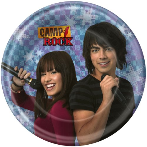 Camp Rock Dessert Plates (8 count) Party Accessory - 1