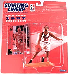 SCOTTIE PIPPEN CHICAGO BULLS 1997 NBA Kenner Starting Lineup & Exclusive TOPPS... by Starting Line Up