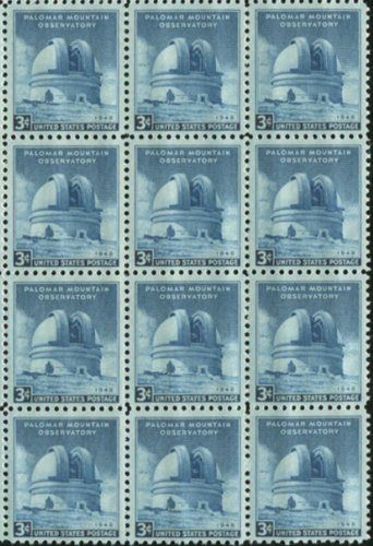 Palomar Mountain Observatory ~ Hale Telescope ~ Astronomy ~ Space ~ Stars #0966 Block Of 12 X 3¢ Us Postage Stamps