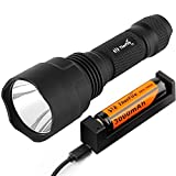 ThorFire Upgraded C8s LED Flashlight with 18650 Battery USB Charger Bike Light Mount For Cycling Camping Hiking
