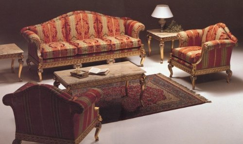 Baroque Salon Sofa 2er 3er Table Chaise Vp0820 De Style Antique