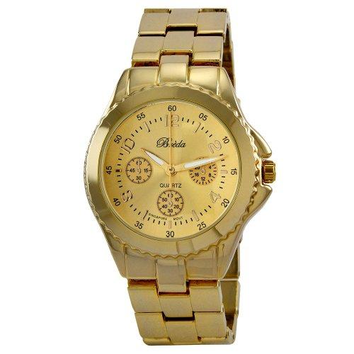"Breda Women's 8128_gold ""Abigail"" Boyfriend Style Watch"