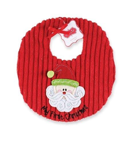 Mud Pie Unisex-Baby Newborn My First Christmas Bib, Multi Colored, 0-6 Months front-542759