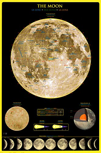 Science-Poster-The-Moon-24x36-Educational-Print