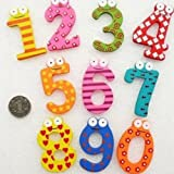 Set of 10 Number Wooden Fridge Furniture Decorations Magnets Toy Small