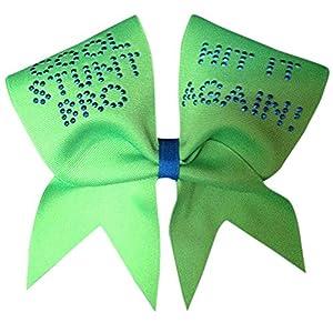 Chosen Bows Cool Stunt Bro Cheer Bow, Neon Green