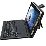 "10.2"" Synthetic Leather Case with Keyboard and Stylus Pen for ePad and aPad ...."
