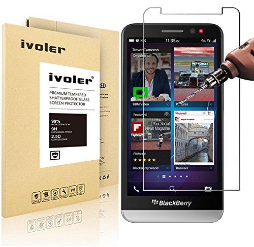Blackberry Z30 Pellicola Protettiva, iVoler® Pellicola Protettiva in vetro temperato per Blackberry Z30- Vetro con Durezza 9H, Spessore di 0,2 mm,Bordi Arrotondati da 2,5D-Shockproof, Trasparenza ad alta definizione, Facile da installare- Garanzia a vita