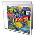 3dRose 8 x 8 x 0.25 Inches Tropical Fish Greeting Cards, Set of 6 (gc_5741_1)