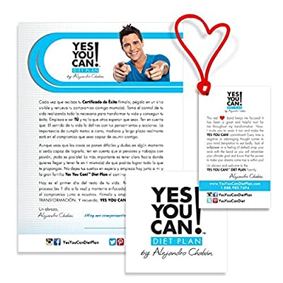 Yes You Can! Diet Plan Transform Kit Food Lover: Protein Shake Snacks, 30 Fat Burner Pills, 30 Appetite Suppressant Pills, 30 Colon Cleanser Pills, 30 Collagen Pills, 1 Bilingual Transform Guide (Spanish/english), 1 Shaker Bottle, 1 Yes You Can!TM Diet Pl