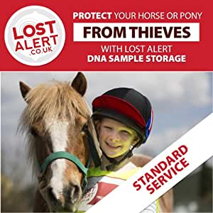 DNA sample collection kit and storage service for your horse or pony- Use to protect your pet and *help identify your pet if they are stolen.