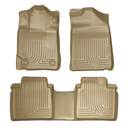 Husky Liners Custom Fit Front And Second Seat Floor Liner Set For Select Toyota Camry Models (Tan) front-446429