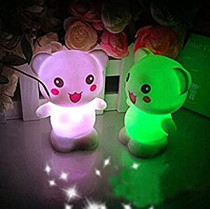Domire Pack of 2 Color Changing Desk Bedroom Party Wedding Lamp LED Night Light,Bear from Domire