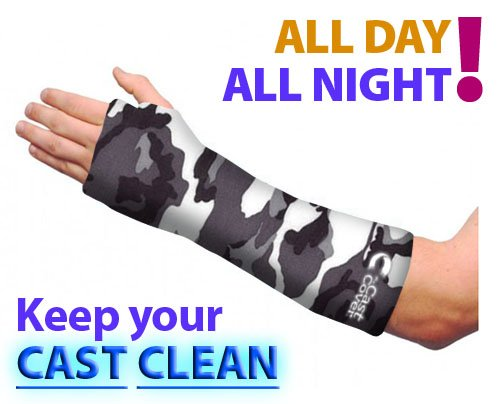 Short Arm Cast Cover - Black & White Camouflage (Adult Small/Medium) (Short Arm Cast Cover compare prices)