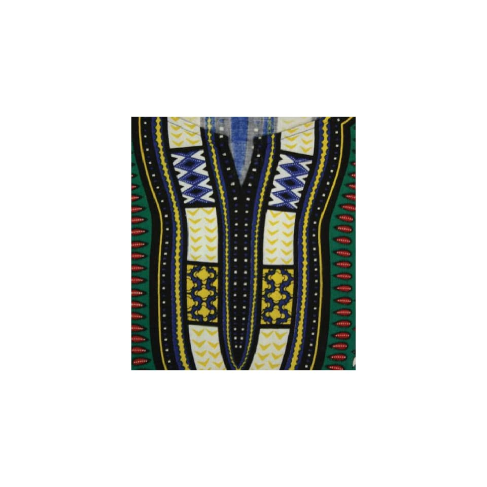 ac79af5a408 King Sized Traditional Print Unisex Dashiki Top Up to 68 Chest Available in  Several Colors