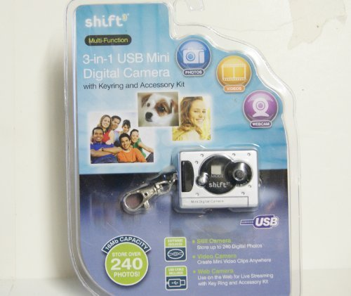Shift3 Multi-function 3-in-1 Usb Mini Digital Camera with Keyring (VARIOUS COLORS)