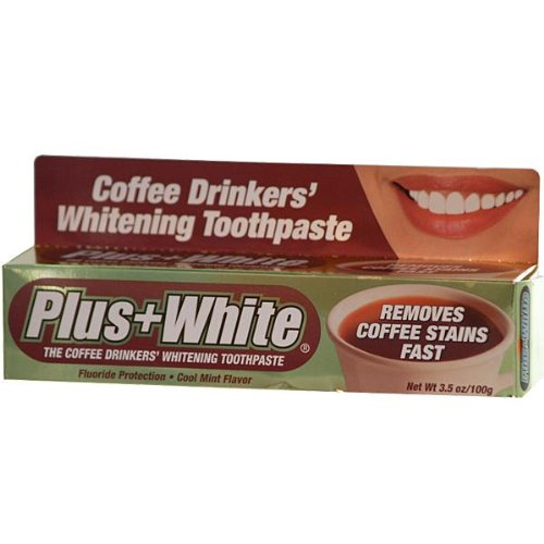 Plus White The Coffee Drinkers Whitening Toothpaste, Cool Mint Flavor, 3.5 Ounce