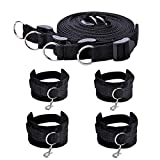 Utimi Fetish Under Bed Restraint Kit with Hand Cuffs Ankle Cuff Bondage Collection For Male Female Couple