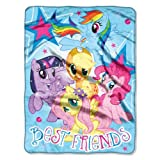 "Hasbro ""My Little Pony, Best Friends"" Micro Raschel Throw, 46 by 60-Inch image"