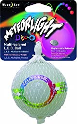 Nite Ize MeteorLight LED Light Up K9 Ball Glowing Dog Toy Float Color:Disco Size:Pack of 2