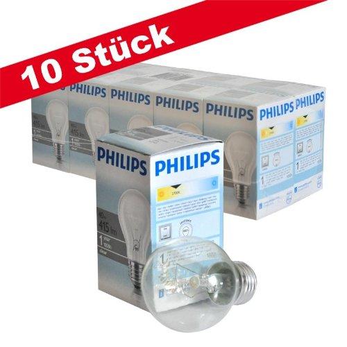10er pack philips gl hlampe gl hbirne normallampe 40w klar e27 a55 230v von philips bei. Black Bedroom Furniture Sets. Home Design Ideas