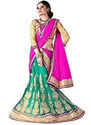 Khushi Trendz Women's Net Semi-Stitched Lehenga Choli Set_KT9192_Multicolored_Freesize