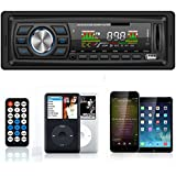 Masione® Car Audio Stereo 1 DIN In Dash 12V Fm Receiver with Mp3 Radio Player & USB SD Input AUX Receiver + Remote Control